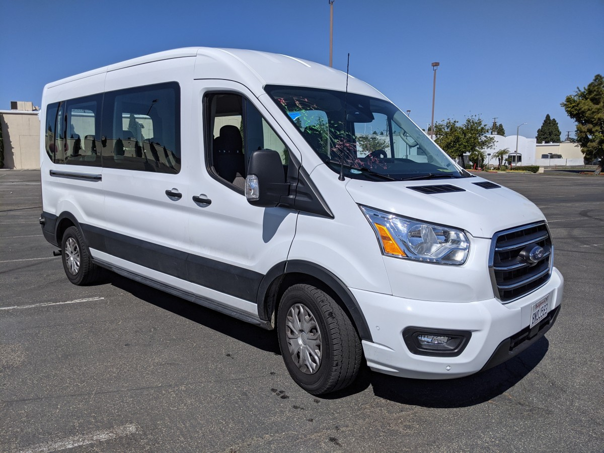 Used 2020 Ford Transit-350 Long Mid Roof Passenger Van XLT in Fountain Valley, CA