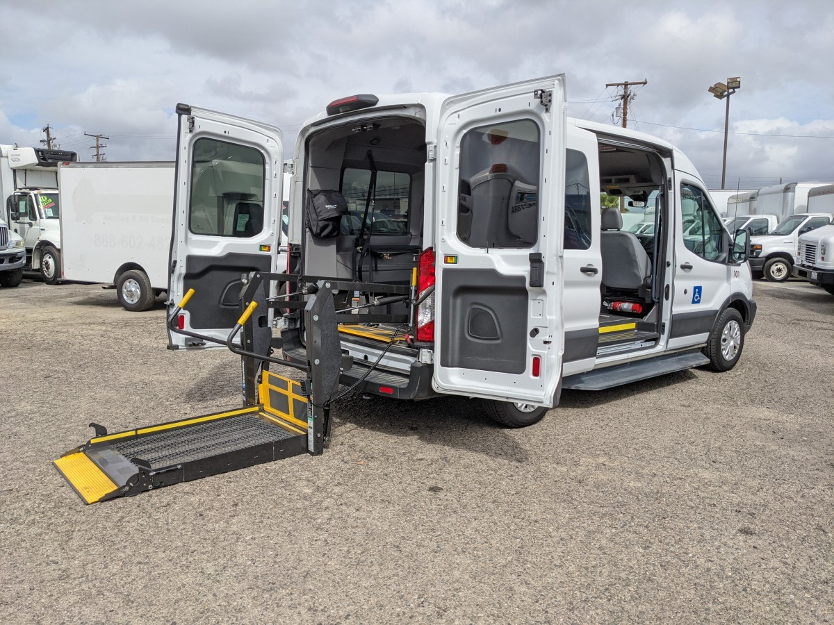 Used 2019 Ford Transit-150 Mid Roof Wheelchair Access Handicap Van in Fountain Valley, CA