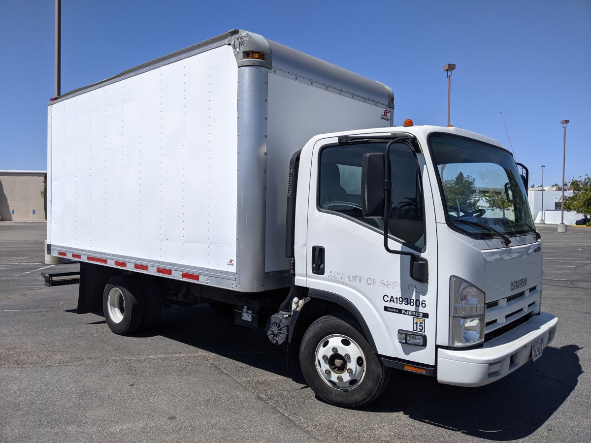Used 2012 Isuzu NPR 14FT Box Truck in Fountain Valley, CA