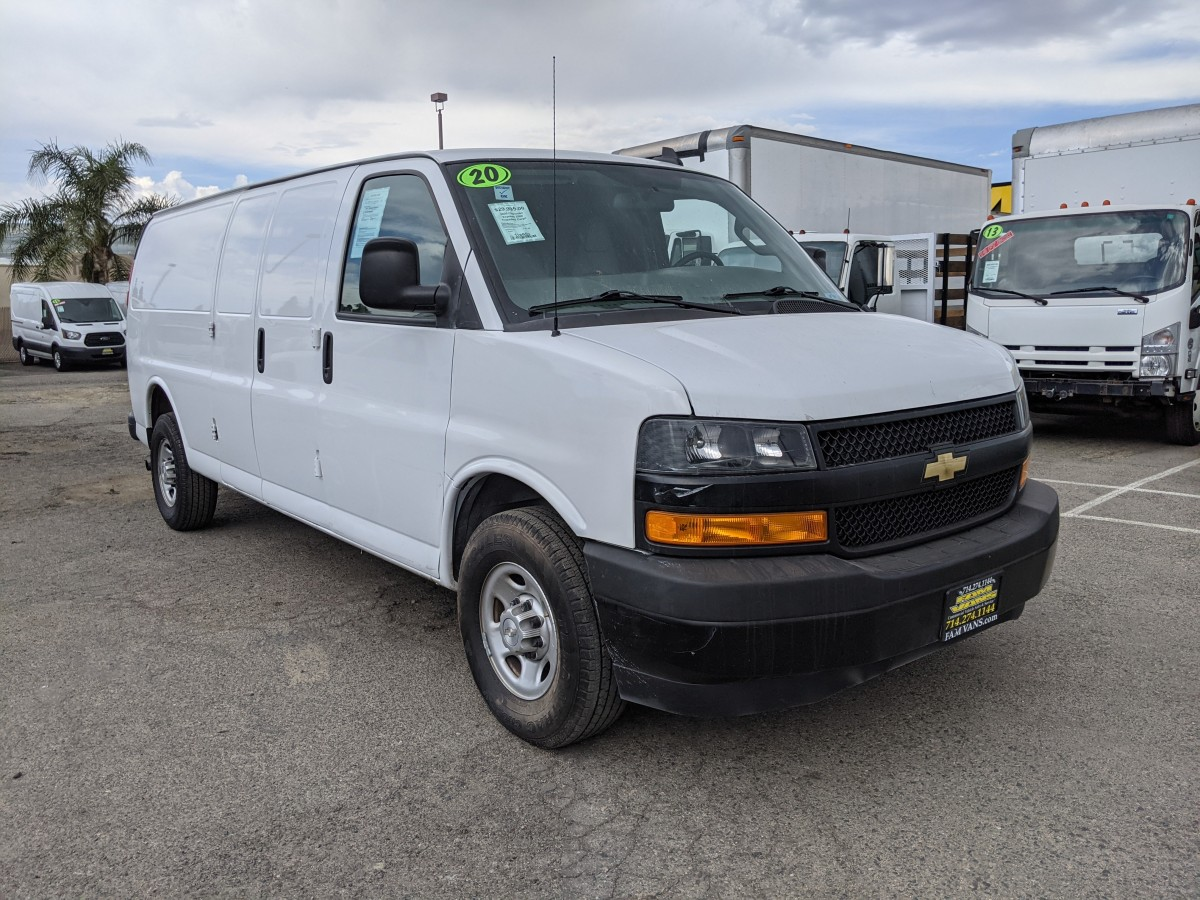Used 2020 Chevrolet Express 2500 Extended Cargo Van DING AND DENT in Fountain Valley, CA