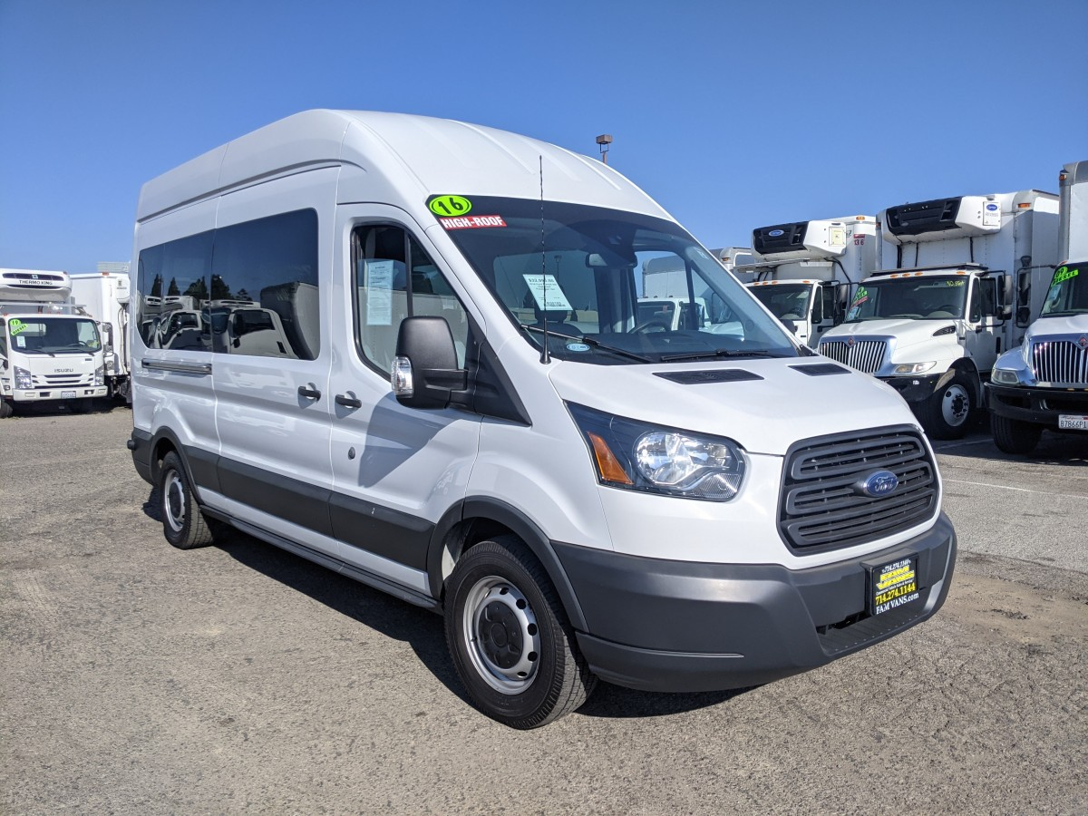 Used 2016 Ford Transit-350 Long High Roof Passenger Van in Fountain Valley, CA