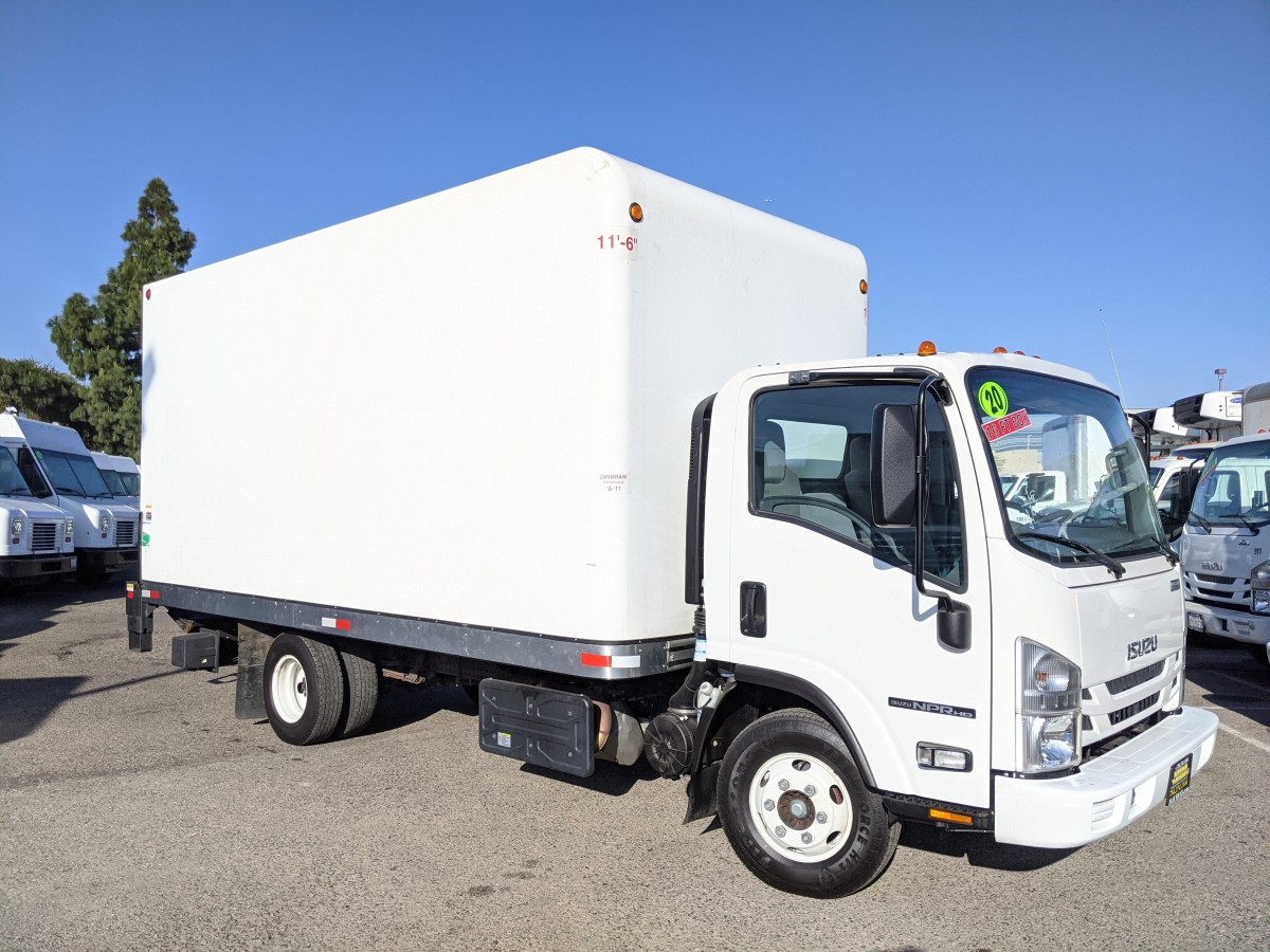 Used 2020 Isuzu NPR HD 16FT Box Truck with Liftgate DIESEL in Fountain Valley, CA