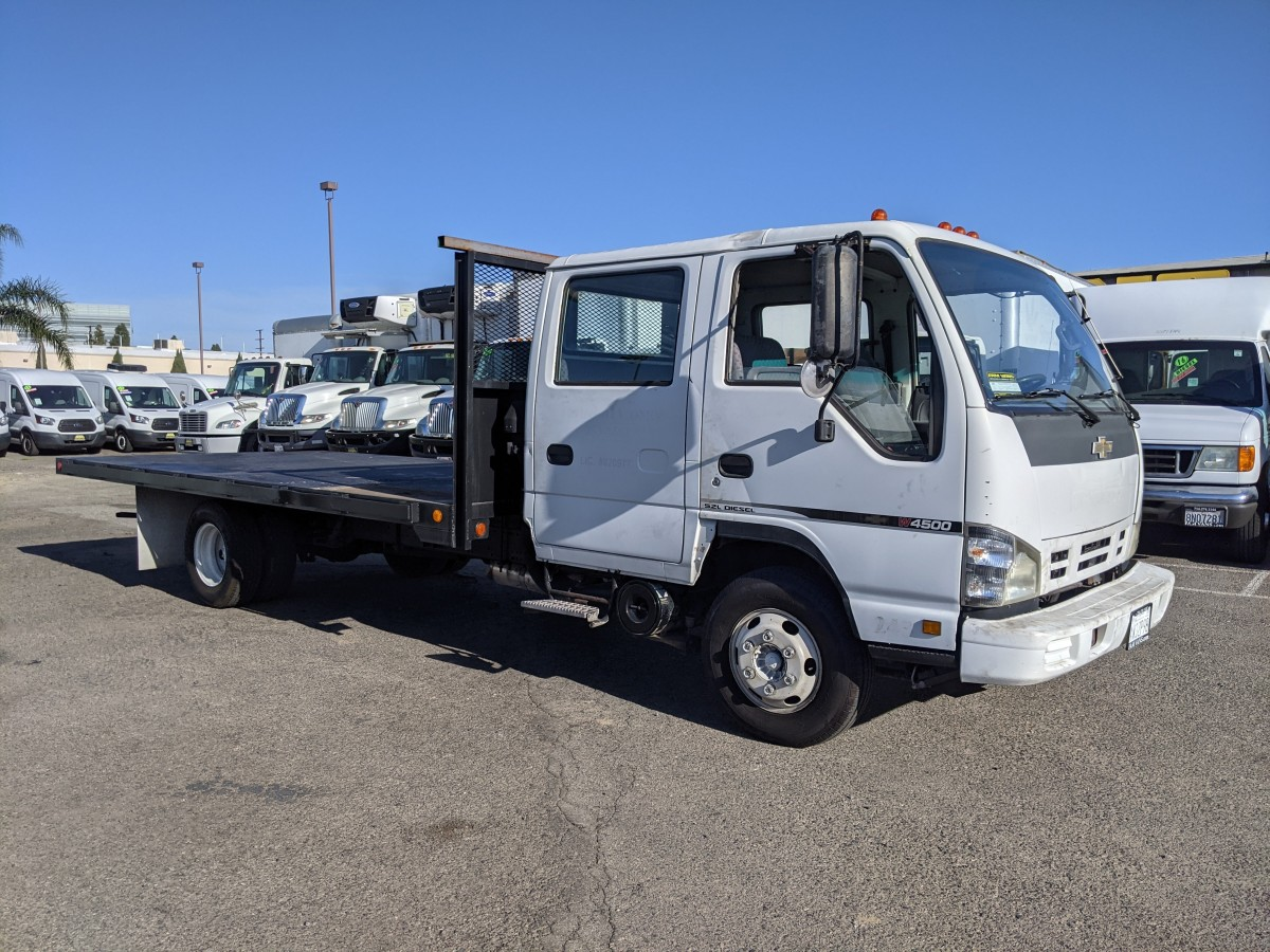 Used 2007 Chevrolet W4500 16FT Flat Bed Truck DIESEL NONCA in Fountain Valley, CA