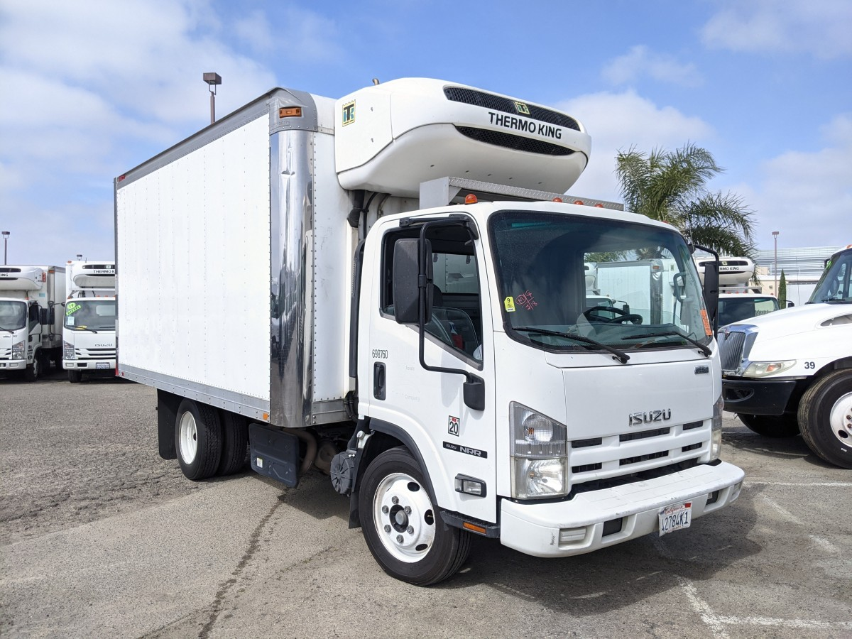 Used 2014 Isuzu NRR 14FT Refrigeration Reefer Box Truck DIESEL in Fountain Valley, CA