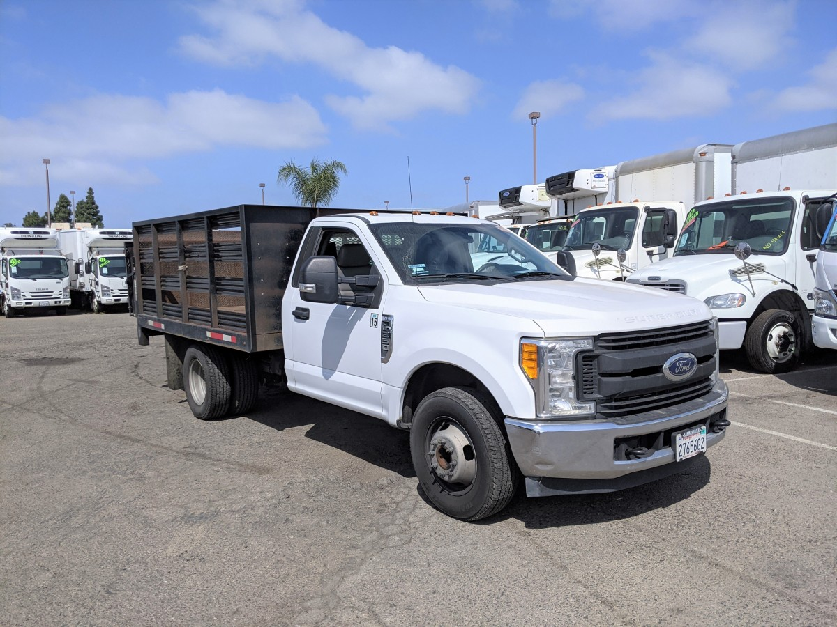 Used 2017 Ford F-350 SD 8FT Stake Bed Truck with Liftgate in Fountain Valley, CA