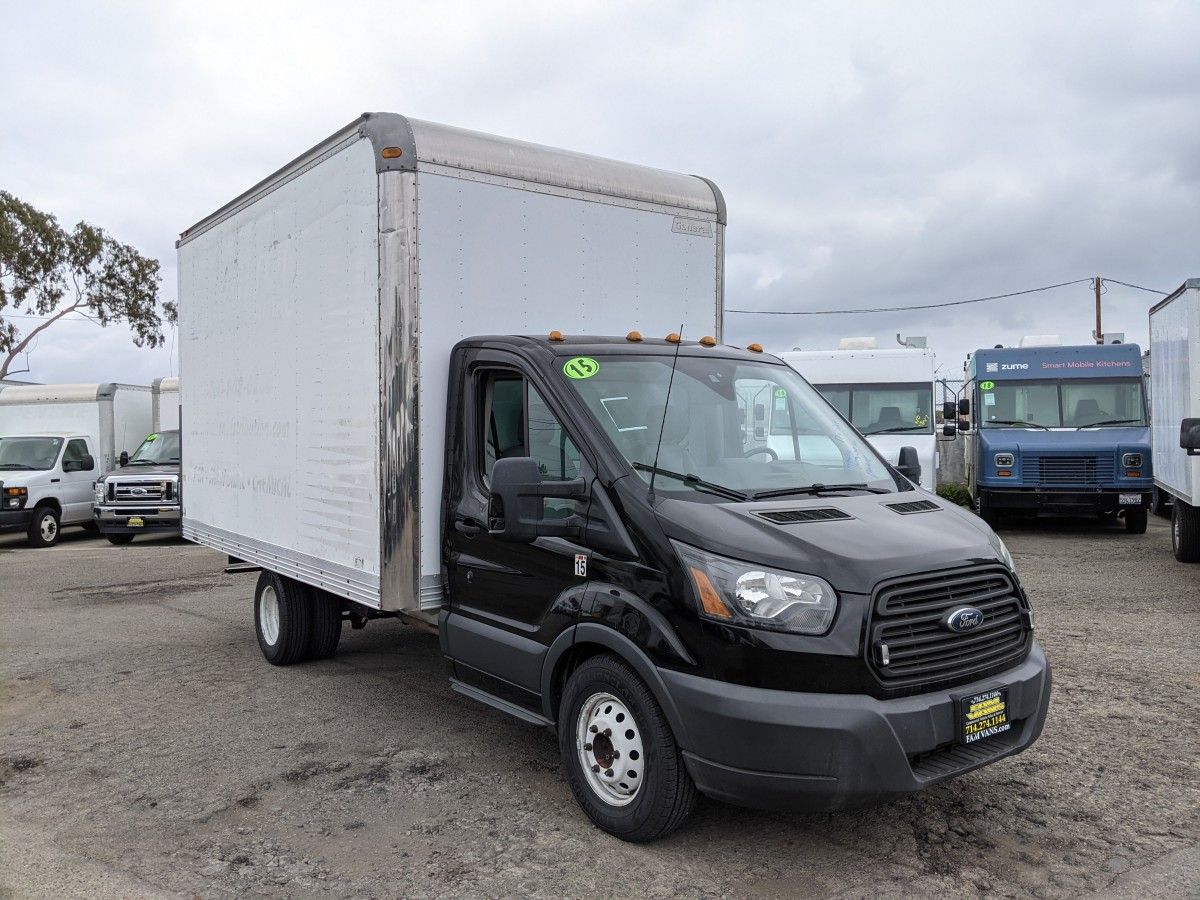 Used 2015 Ford Transit-350 14FT Box Truck in Fountain Valley, CA