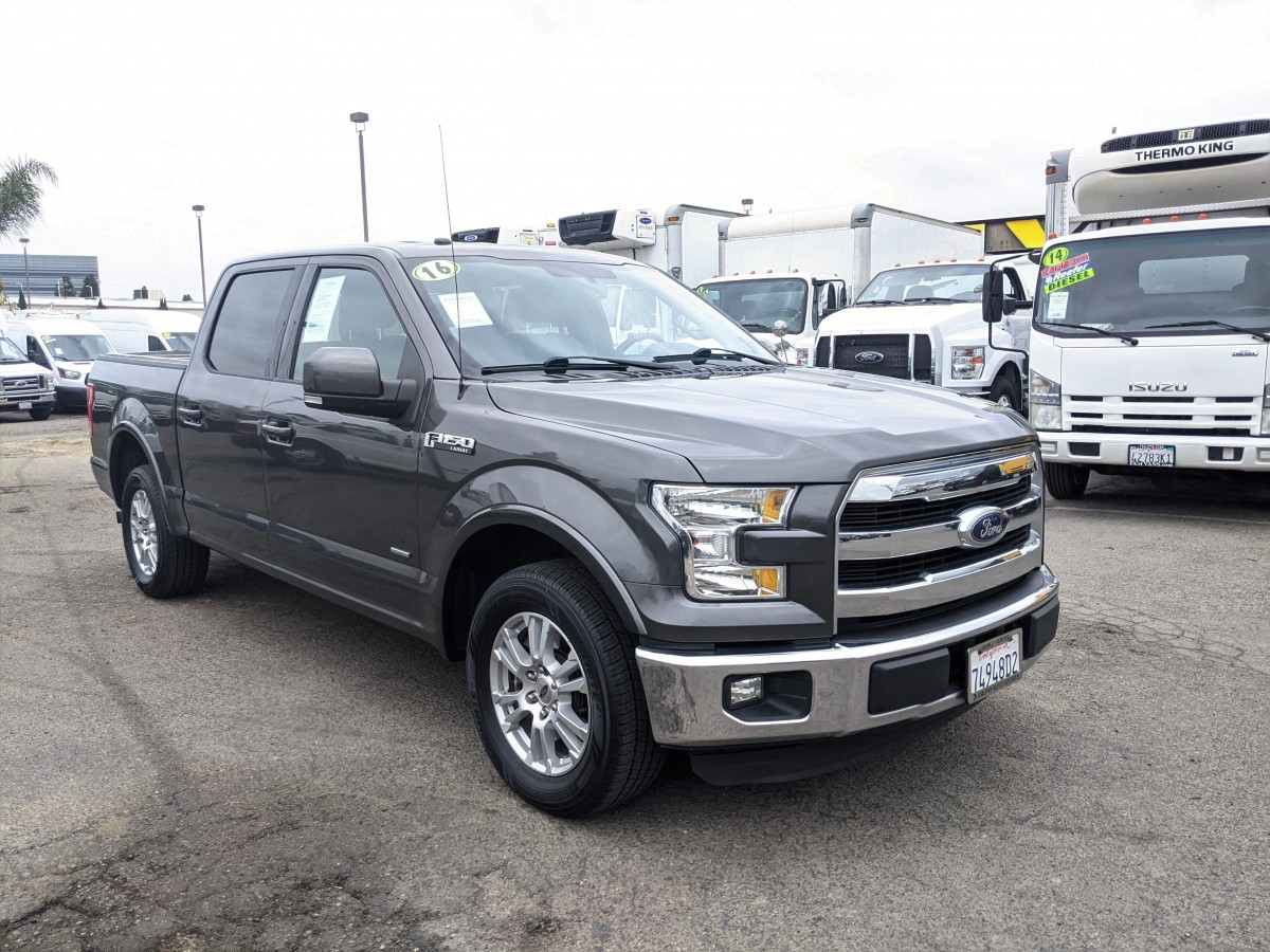 Used 2016 Ford F-150 Lariat Crew Cab Pickup Truck in Fountain Valley, CA