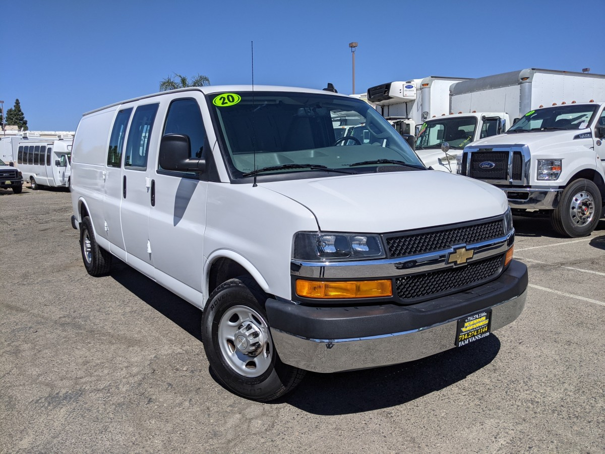 Used 2020 Chevrolet Express 2500 Extended Cargo Van in Fountain Valley, CA