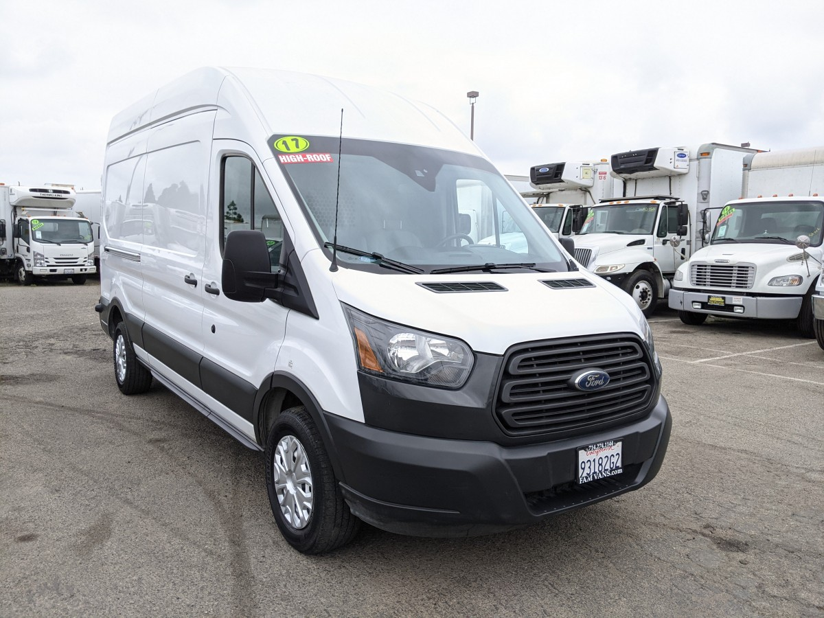 Used 2017 Ford Transit-250 Long High Roof Cargo Van with Bulkhead in Fountain Valley, CA