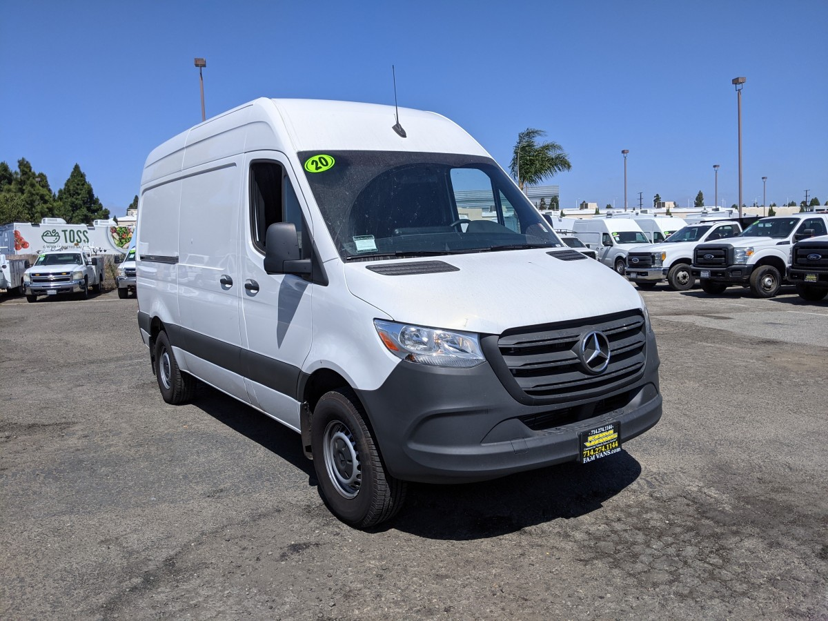 Used 2020 Mercedes-Benz Sprinter 2500 High Roof Cargo Van 144WB DIESEL in Fountain Valley, CA