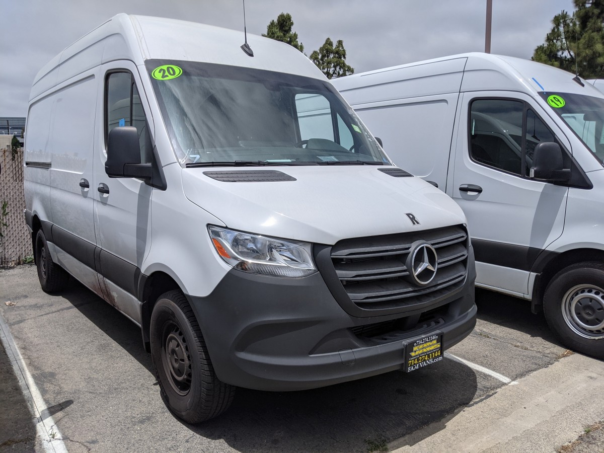 Used 2020 Mercedes-Benz Sprinter 2500 High Roof Cargo Van DIESEL in Fountain Valley, CA