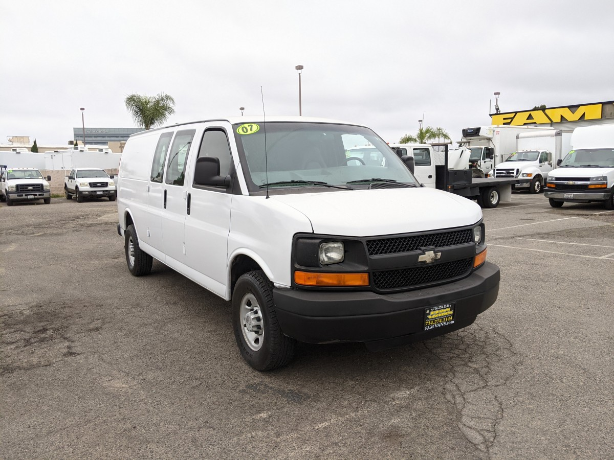 Used 2007 Chevrolet Express 3500 Extended Cargo Van with Bulkhead in Fountain Valley, CA