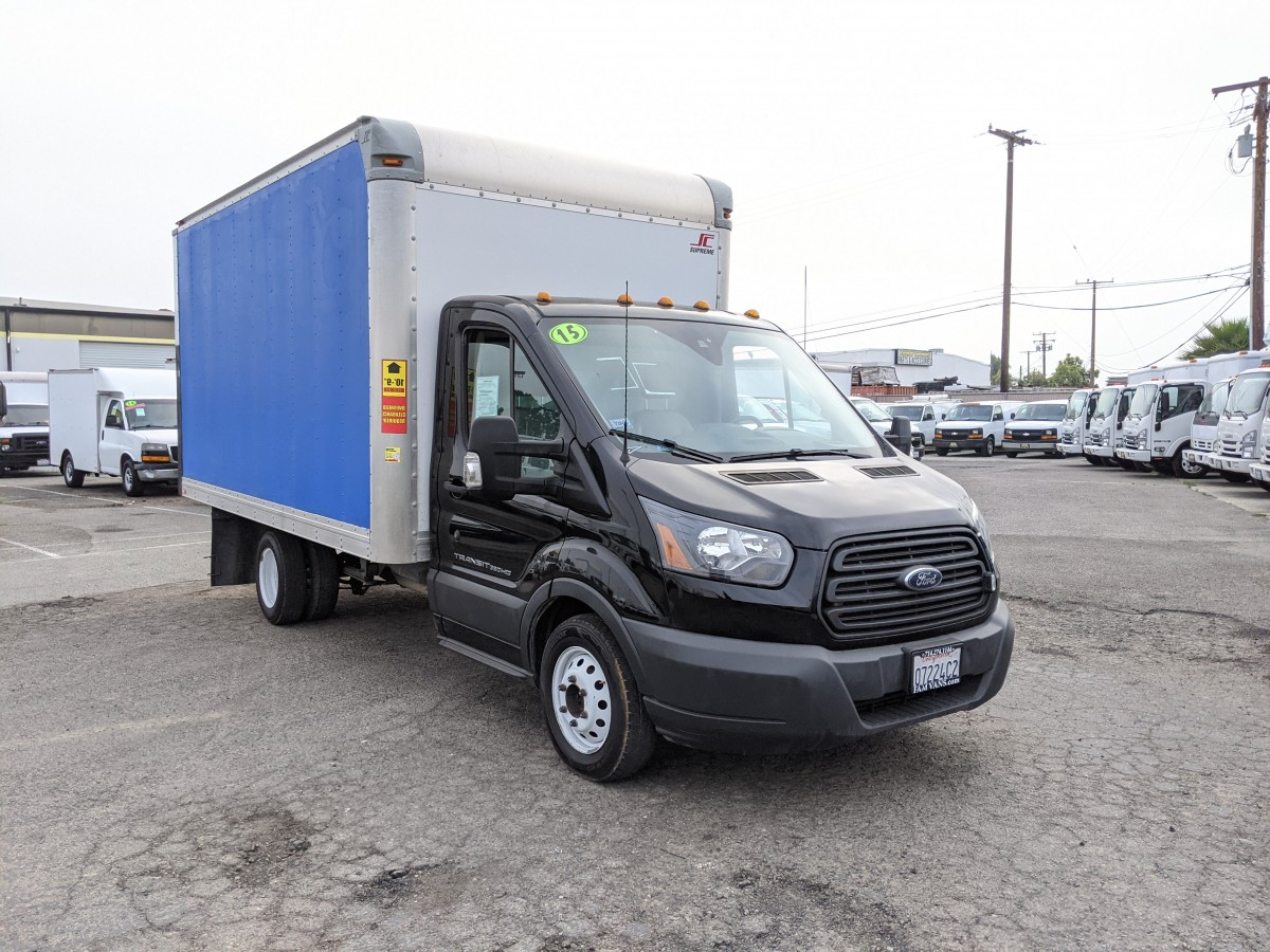 Used 2015 Ford Transit-350 14FT Box Truck DIESEL in Fountain Valley, CA