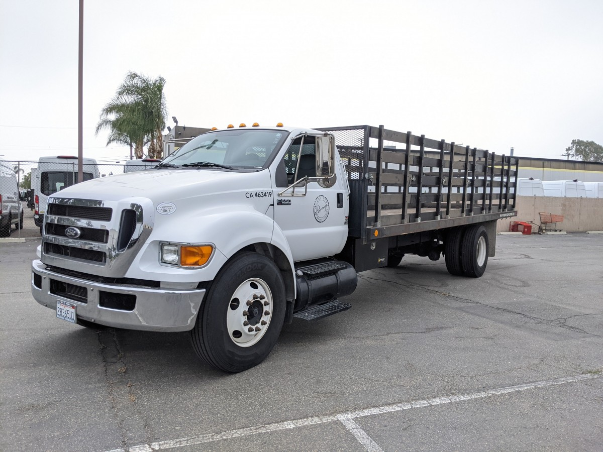 Used 2015 Ford F-650 24FT Stake Bed Truck DIESEL in Fountain Valley, CA