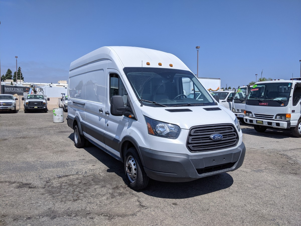 Used 2017 Ford Transit-350 HD Extended Long High Roof Cargo Van with Bulkhead in Fountain Valley, CA