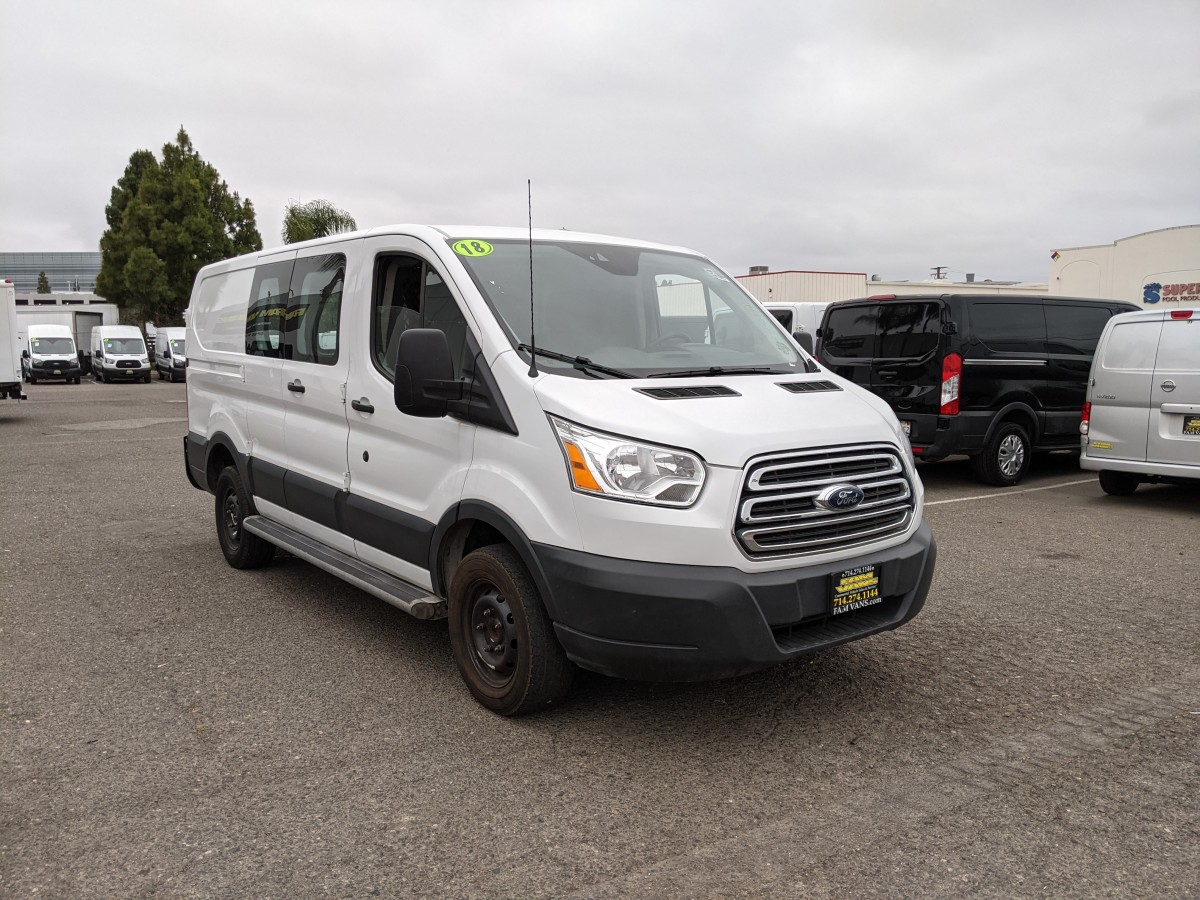 Used 2018 Ford Transit-250 Low Roof Cargo Van with Bulkhead in Fountain Valley, CA