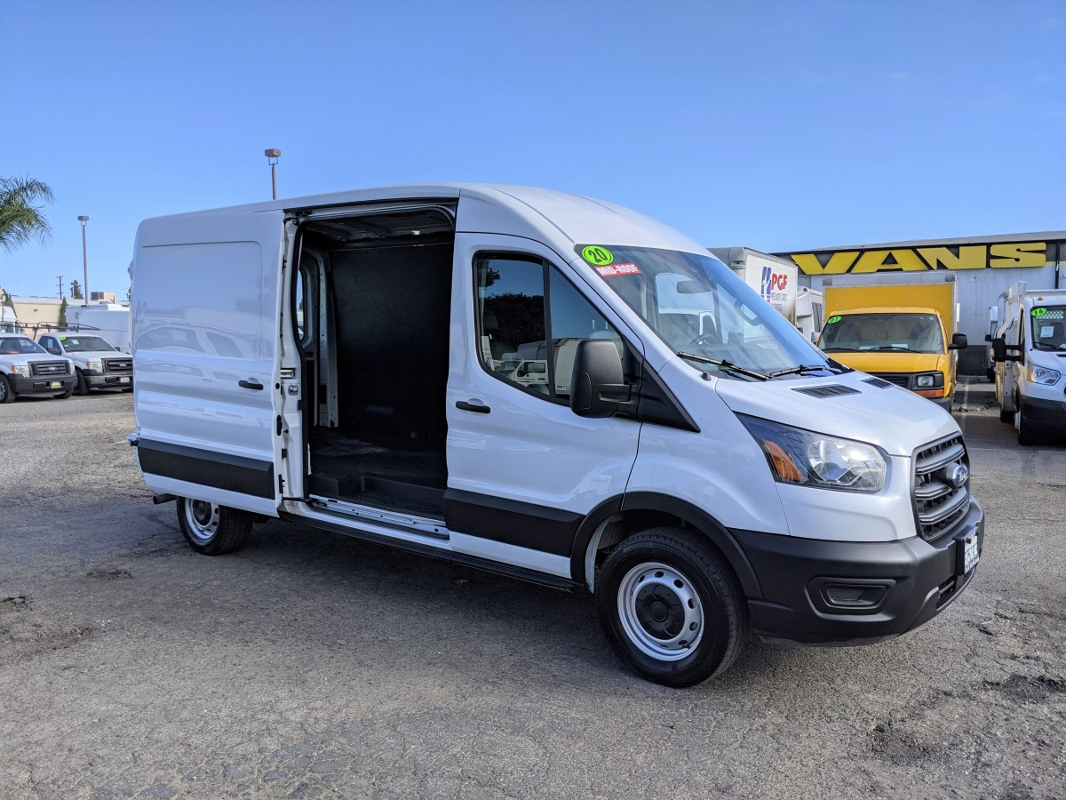 Used 2020 Ford Transit-250 Long Mid Roof Cargo Van FLEX FUEL in Fountain Valley, CA