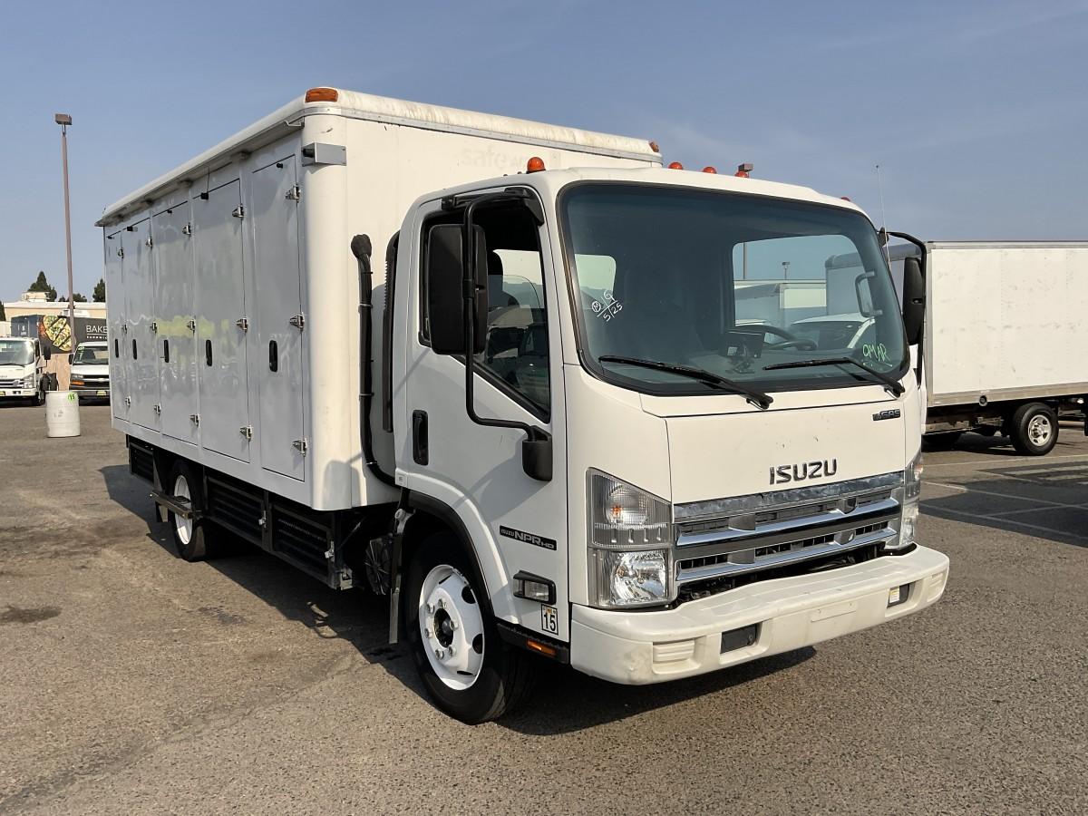 Used 2013 Isuzu NPR HD 14FT Refrigeration Reefer Box Truck in Fountain Valley, CA