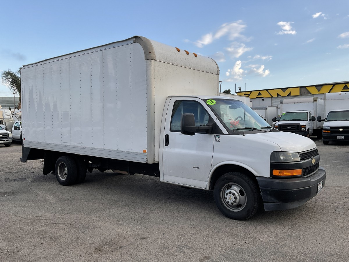 Used 2018 Chevrolet Express 3500 16FT Box Truck in Fountain Valley, CA