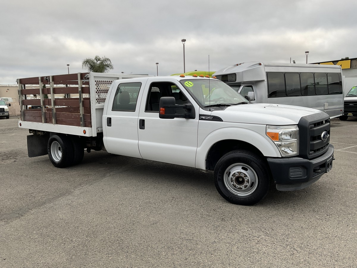 Used 2015 Ford F-350 SD 10FT Crew Cab Stake Bed Truck DRW FLEX FUEL in Fountain Valley, CA
