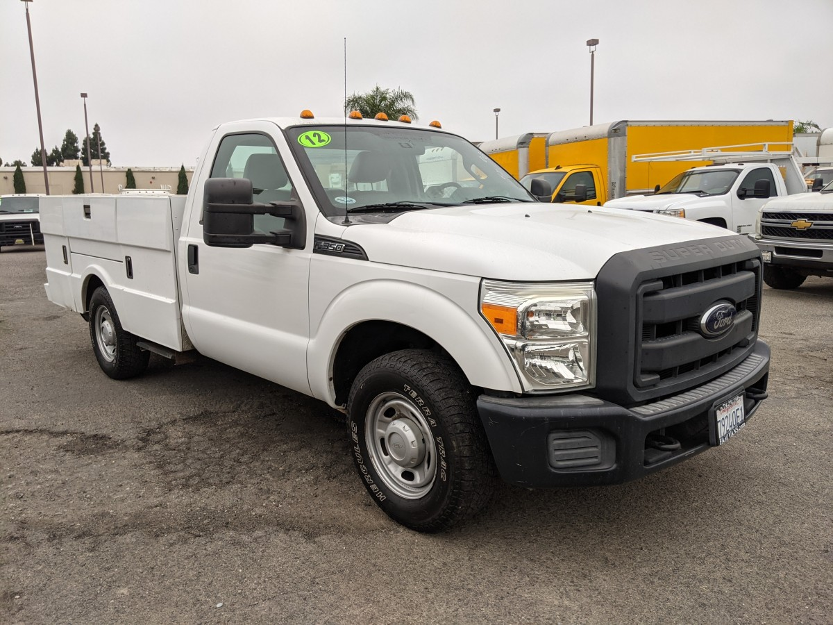 Used 2012 Ford F-350 SD 10FT Utility Truck XLT FLEX FUEL in Fountain Valley, CA
