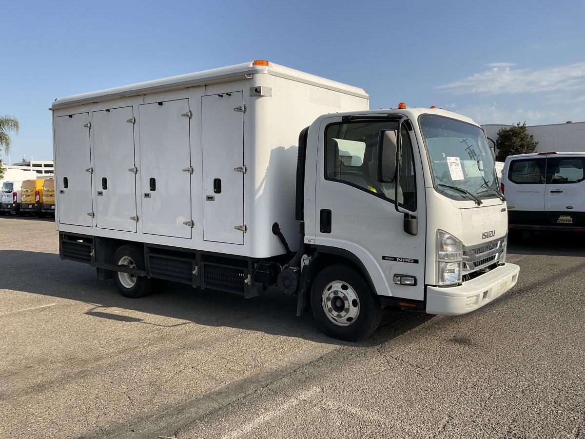 Used 2016 Isuzu NPR 14FT Refrigeration Reefer Box Truck in Fountain Valley, CA