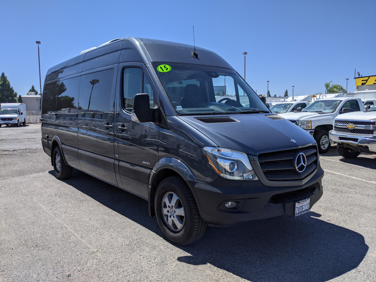 Used 2015 Mercedes-Benz Sprinter 2500 High Roof Passenger Van 170WB DIESEL in Fountain Valley, CA