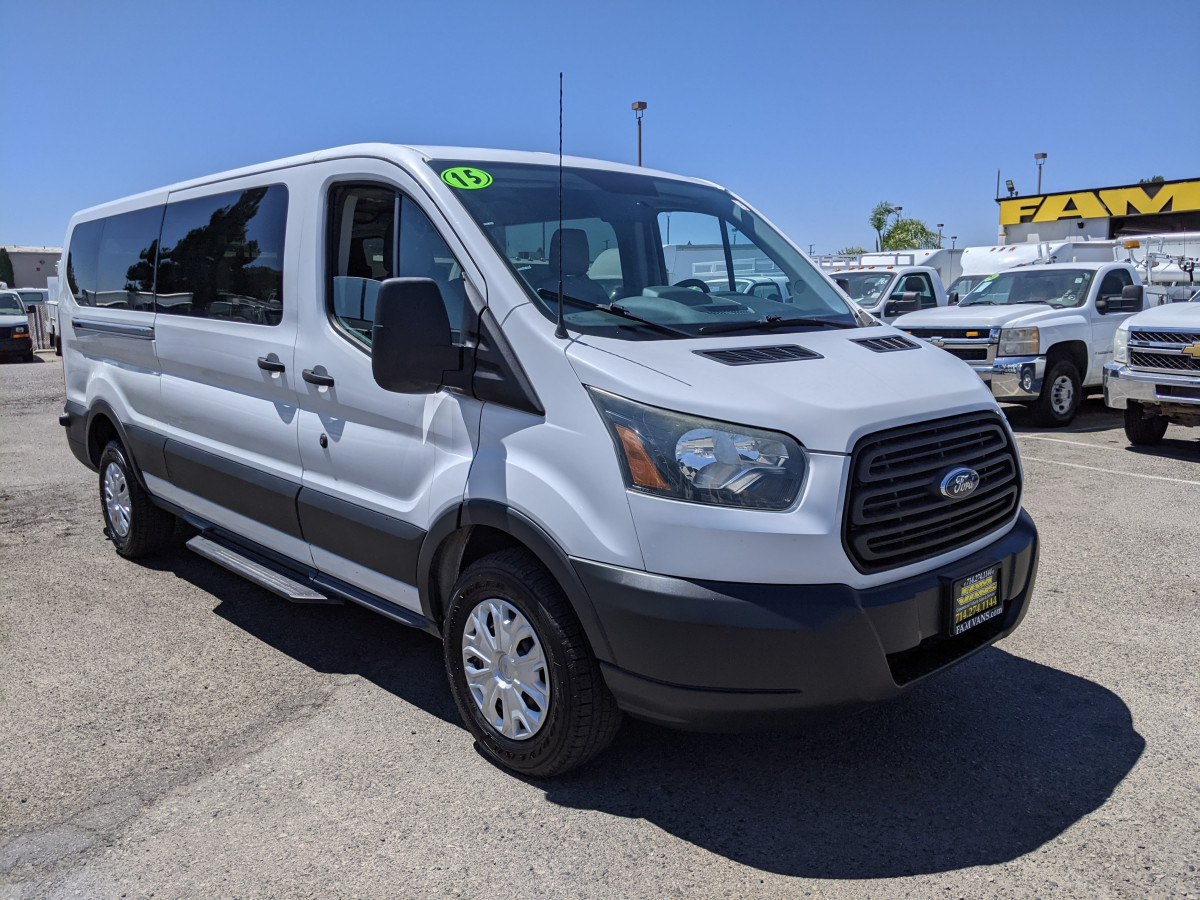 Used 2015 Ford Transit-350 Long Low Roof Crew Cargo Van FLEX FUEL in Fountain Valley, CA