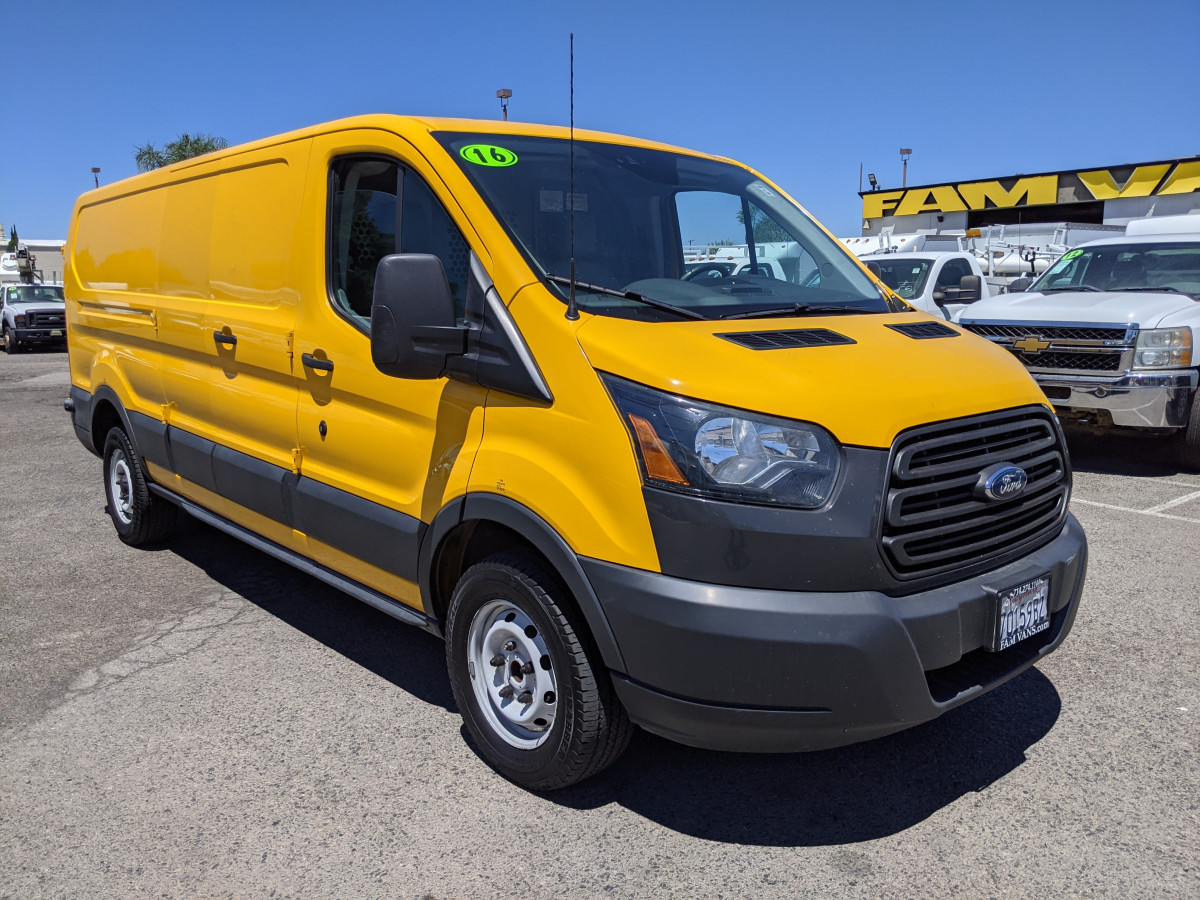 Used 2016 Ford Transit-250 Long Low Roof Cargo Van with Bulkhead FLEX FUEL in Fountain Valley, CA