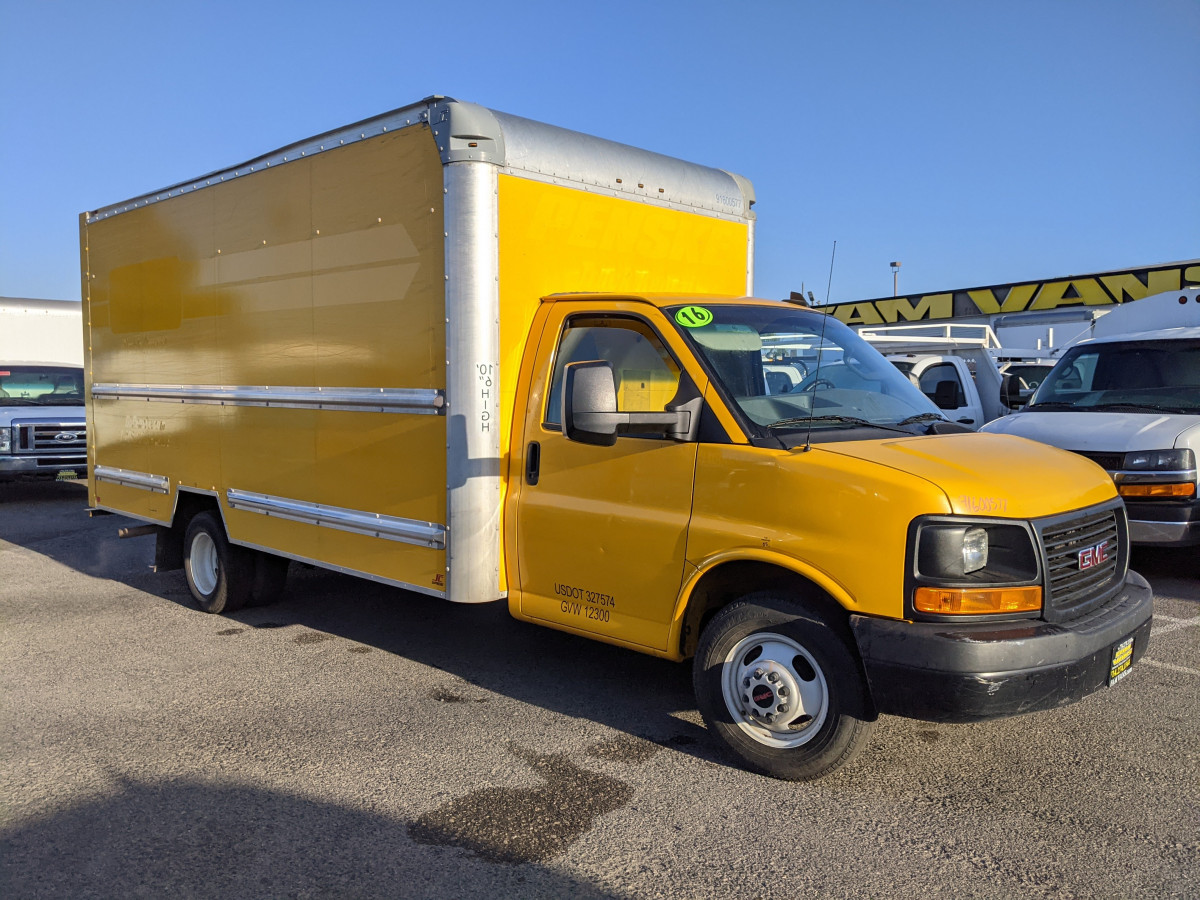 Used 2016 GMC Savana 3500 16FT Box Truck with Loading Ramp in Fountain Valley, CA