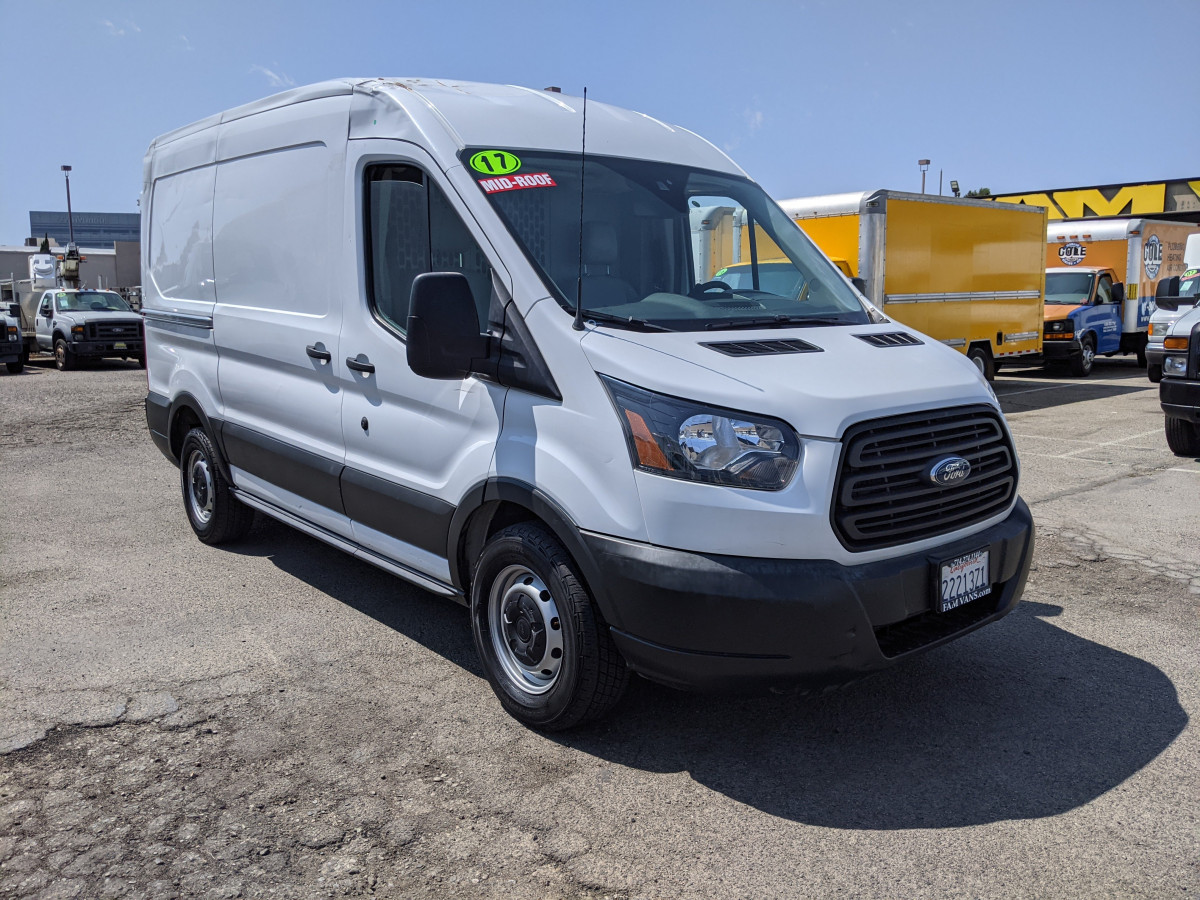 Used 2017 Ford Transit-150 Mid Roof Cargo Van with Bulkhead DING AND DENT in Fountain Valley, CA
