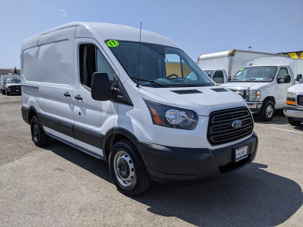 Used 2017 Ford Transit-150 Mid Roof Cargo Van with Bulkhead in Fountain Valley, CA