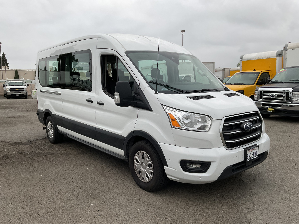 Used 2020 Ford Transit-350  Long Mid Roof Passenger Van XLT FLEX FUEL in Fountain Valley, CA