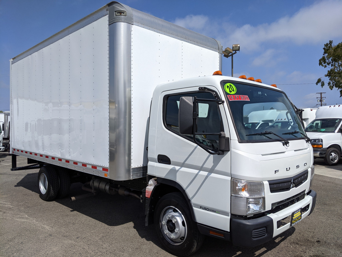 Used 2020 Mitsubishi Fuso FE160 16FT Box Truck with Liftgate in Fountain Valley, CA