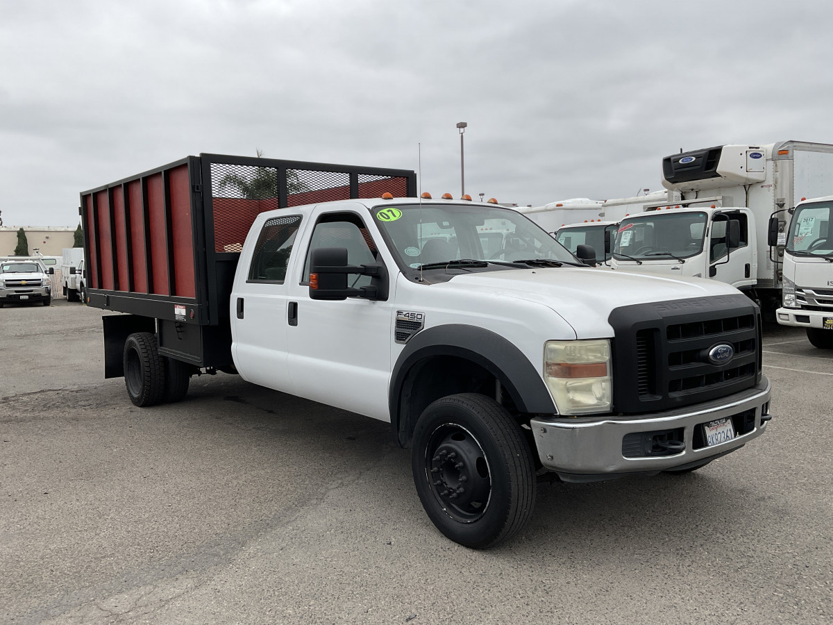 Used 2008 Ford F-450 SD 12FT Crew Stake Bed Truck in Fountain Valley, CA