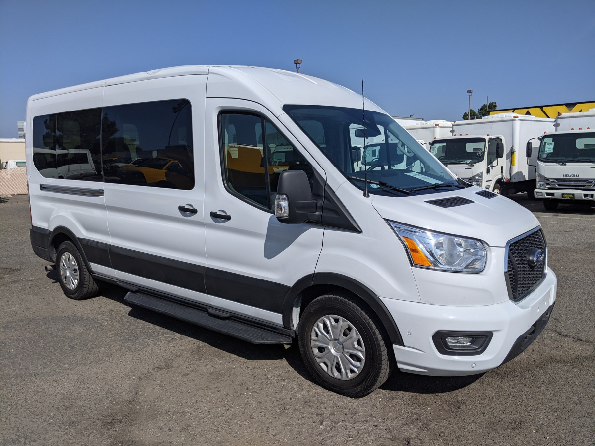 Used 2021 Ford Transit-350 Long Mid Roof Passenger Van XL ECOBOOST in Fountain Valley, CA