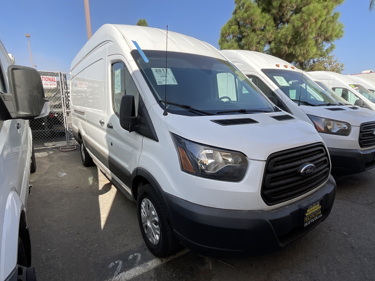 Used 2017 Ford Transit-350 Extended Long High Roof Cargo Van DIESEL in Fountain Valley, CA