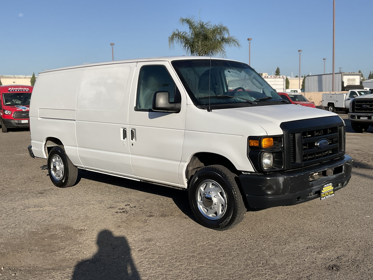 Used 2010 Ford E-150 Cargo Van with Bulkhead FLEX FUEL in Fountain Valley, CA