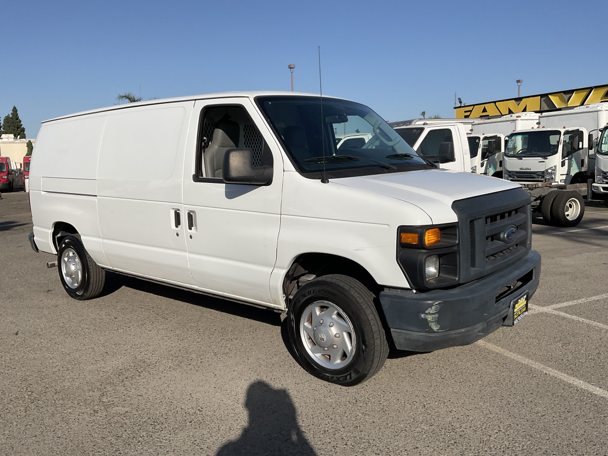 Used 2014 Ford E-150 Cargo Van with Bulkhead FLEX FUEL in Fountain Valley, CA