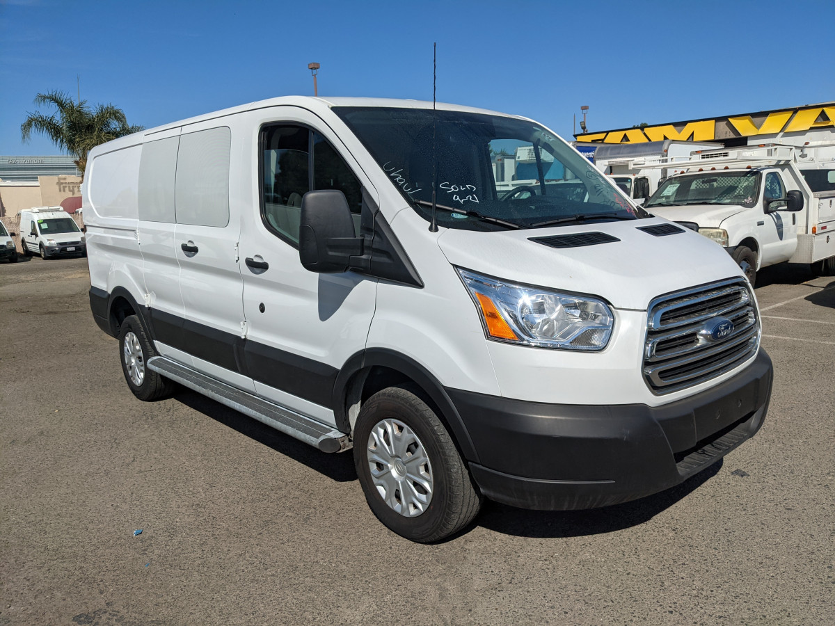 Used 2019 Ford Transit-250 Low Roof Cargo Van with Bulkhead in Fountain Valley, CA