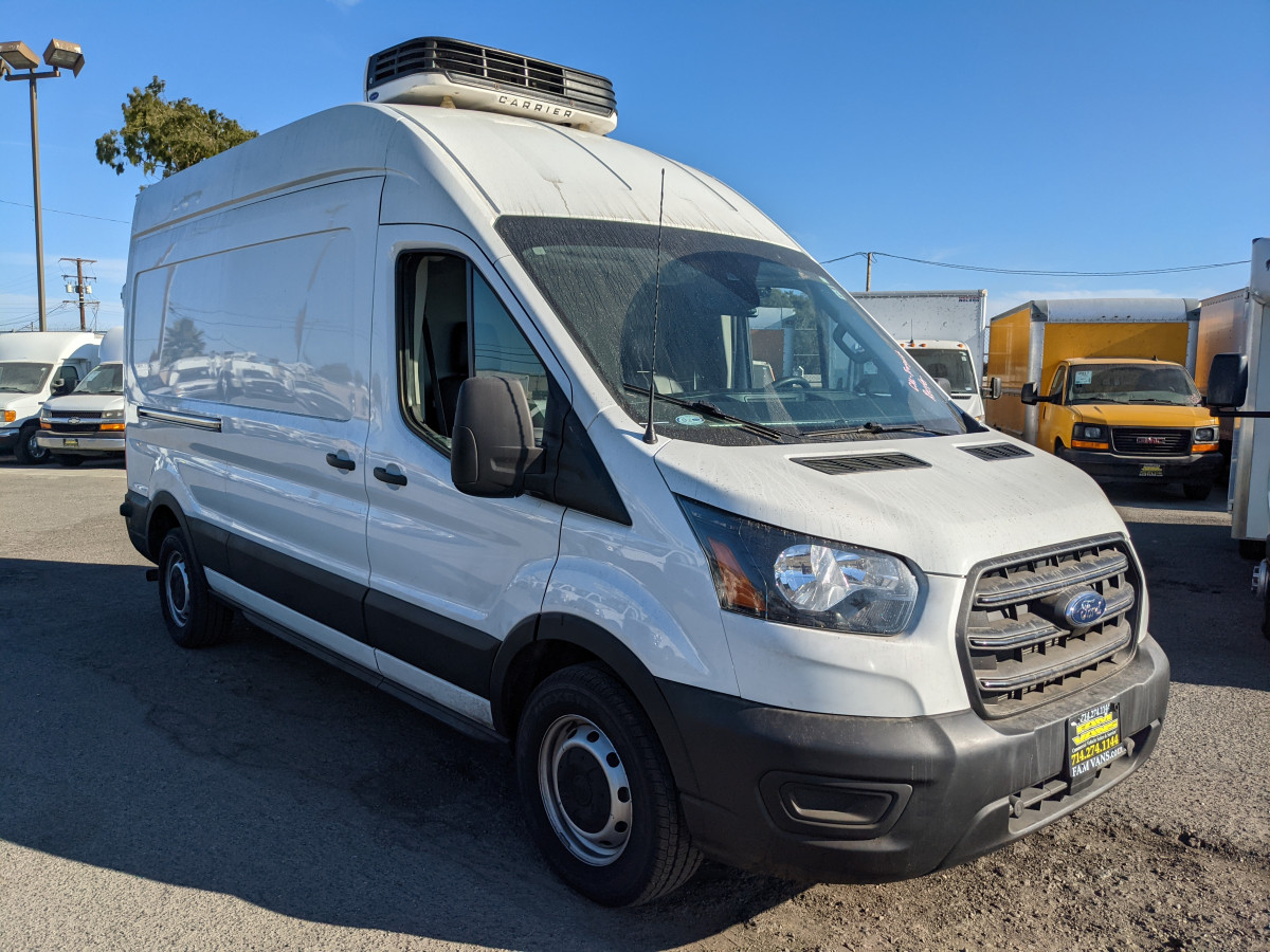 Used 2020 Ford Transit-250 Secure Long High Roof Refrigeration Cargo Van Reefer in Fountain Valley, CA