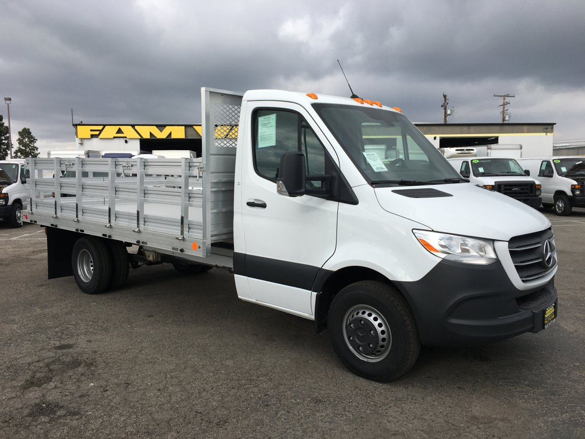 Used 2019 Mercedes-Benz Sprinter 3500 14FT Stake Bed Truck DIESEL in Fountain Valley, CA