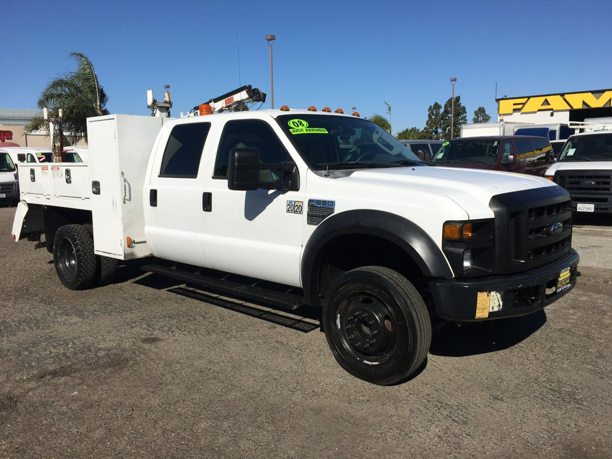 Used 2008 Ford F-550 Crane Utility Truck in Fountain Valley, CA