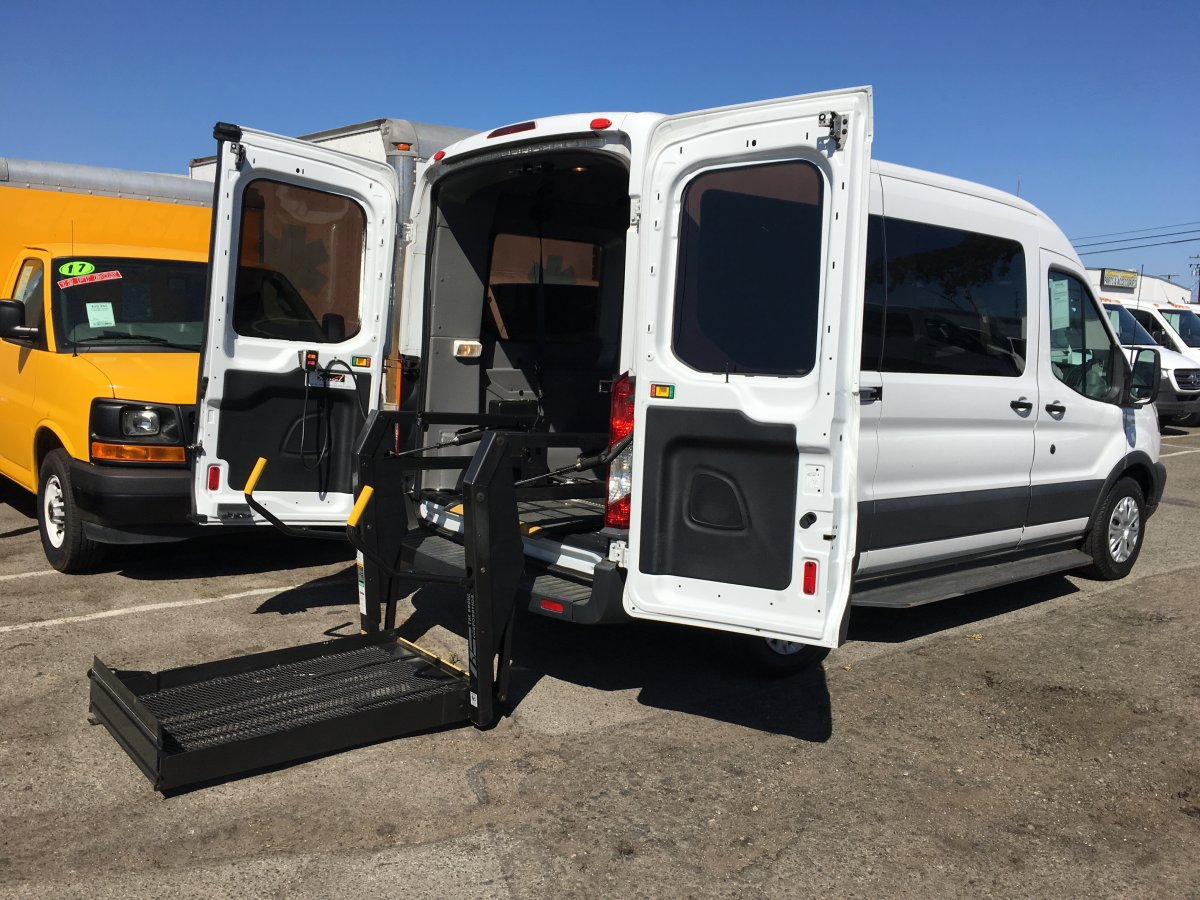 Used 2017 Ford Transit-150 Mid Roof Handicap Van with Wheelchair Lift DIESEL in Fountain Valley, CA