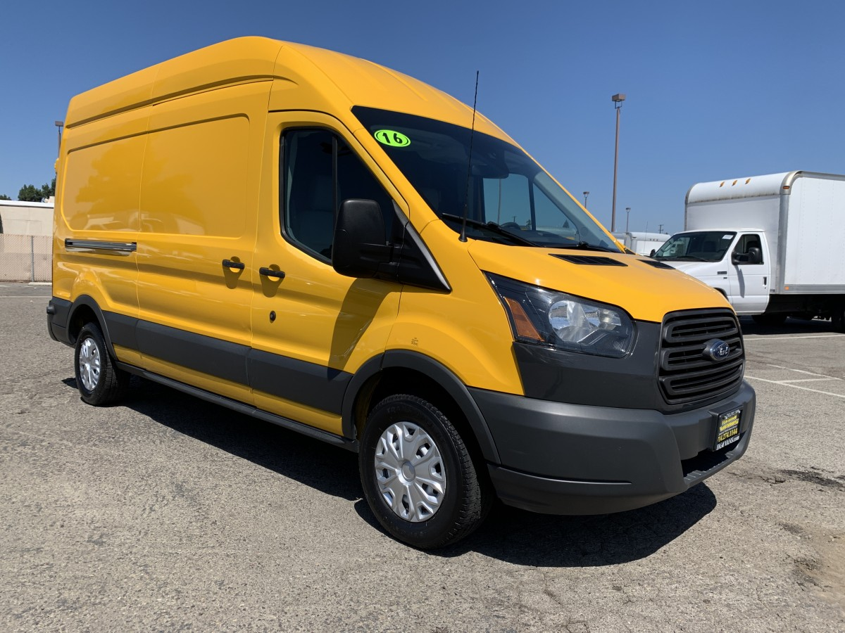 Used 2016 Ford Transit-250 Extended High Roof Cargo Van in Fountain Valley, CA