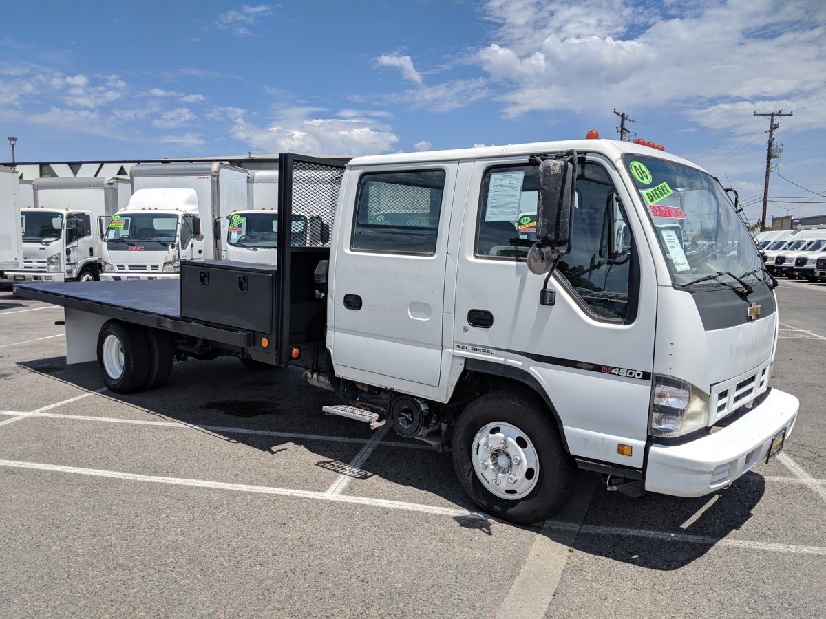 Used 2007 Chevrolet W4500 16FT Flat Stake Bed Truck DIESEL in Fountain Valley, CA