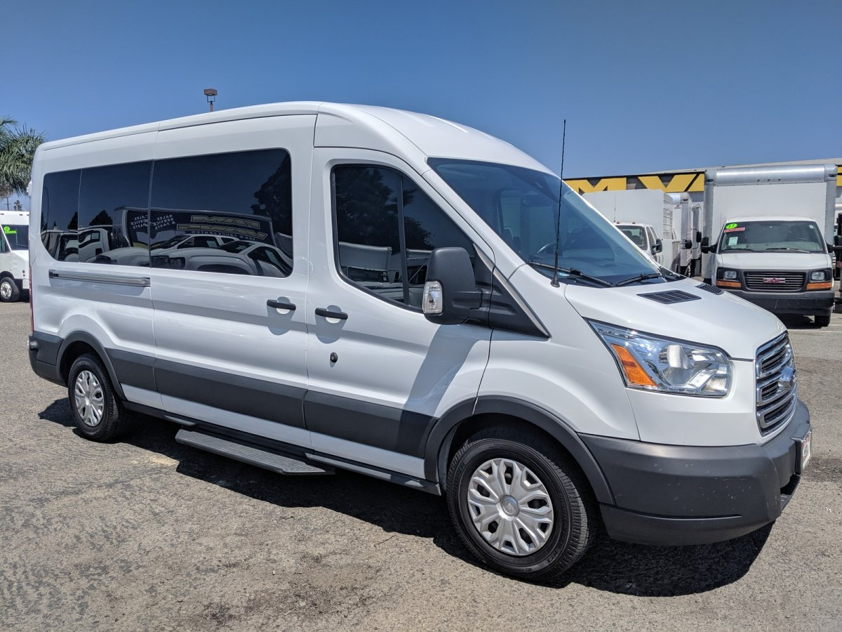 2017 Ford Transit-350 Extended Mid Roof 15 Passenger Van XLT DIESEL in Fountain Valley, CA