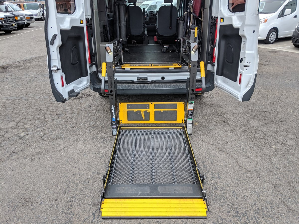 Used 2016 Ford Transit-150 Mid Roof Handicap Van with Wheelchair Lift DIESEL in Fountain Valley, CA