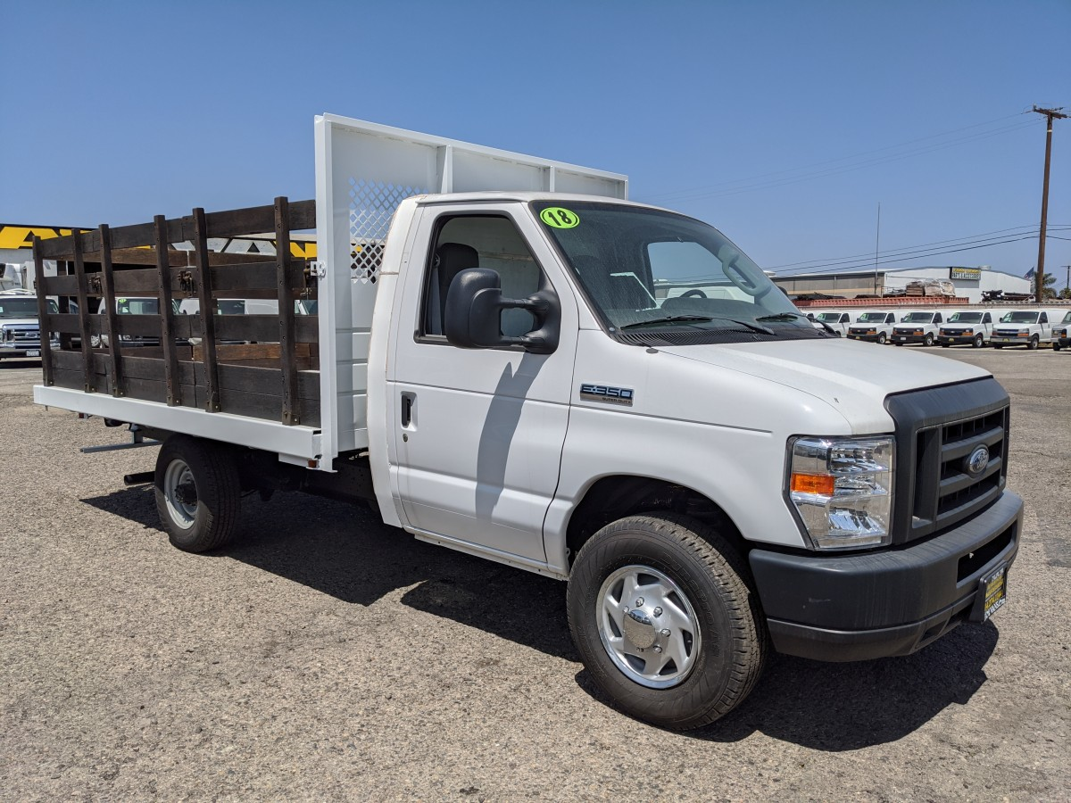 Used 2018 Ford E-350 12FT Stake Bed Truck in Fountain Valley, CA