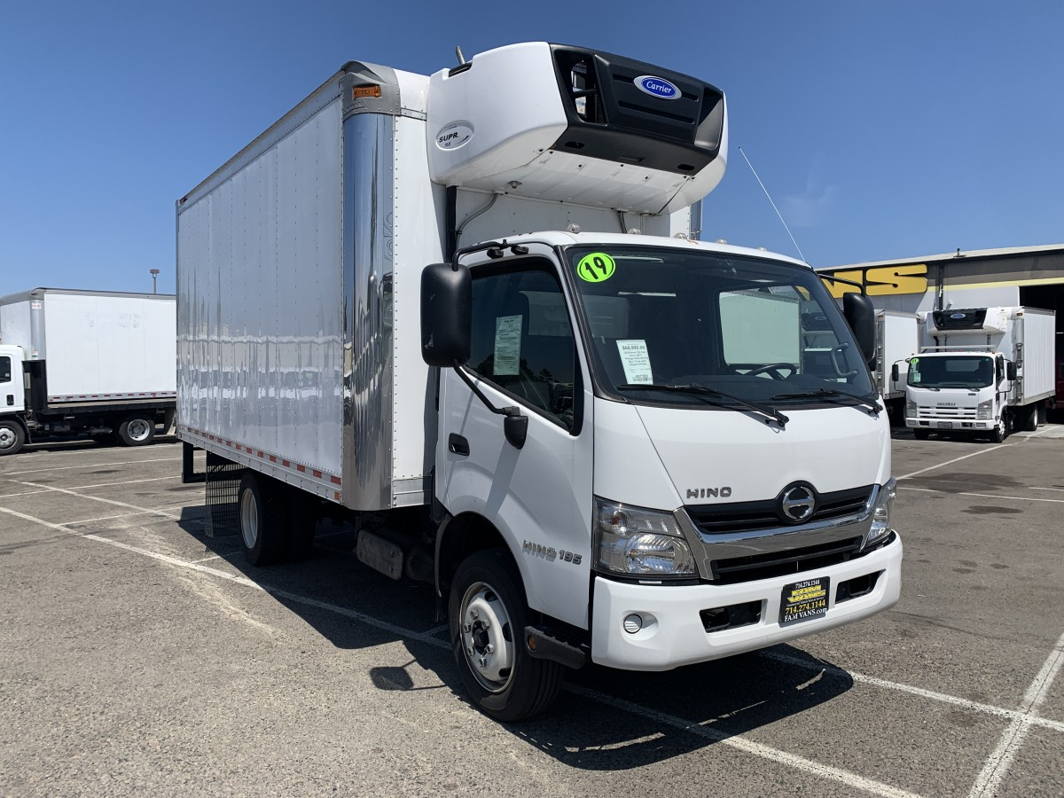 Used 2019 Hino 195 Cab Over 16FT Refrigeration Reefer Box Truck with Loading Ramp DIESEL in Fountain Valley, CA